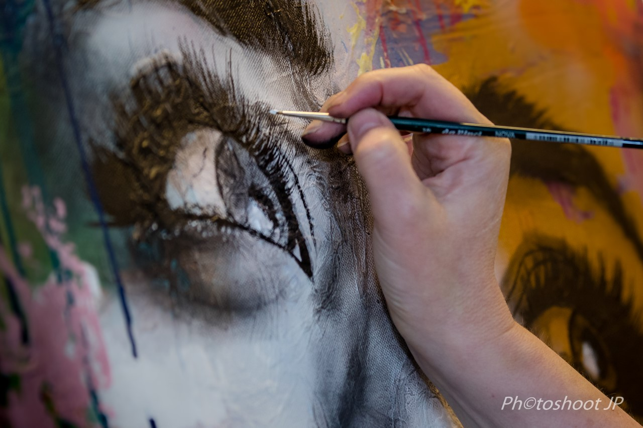 Femke Kock schildert Tom Waits