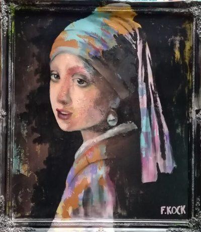 Femke Kock-meisje, naar het meisje met de parel van Vermeer
